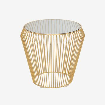 Teegan End Table - Gold
