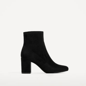 ELASTIC HIGH HEEL ANKLE BOOTS DETAILS