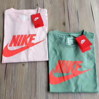 NIKE fashion hot sale five color round neck short sleeve T-shirts Light green