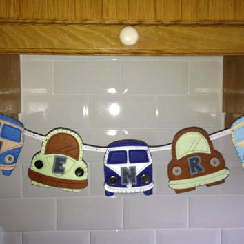 Personalised VW Camper and Beetle Bunting