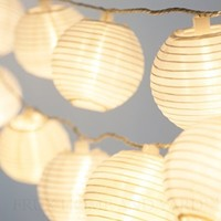 24 WHITE LANTERNS - INDOOR / OUTDOOR MINI NYLON STRING LIGHTS EXTRA LONG 16 FT - REMOTE CONTROL - EXTENDABLE - INCLUDES BONUS HANGING HOOKS by Frux Home and Yard