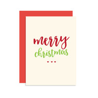 Merry Christmas - Christmas Holiday Seasonal Card Gift - Modern Cute Classic Fun 5x7
