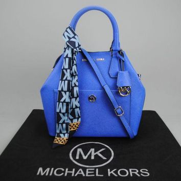 Michael Kors Greenwich Saffiano Satchel Ladies Bag Damentasche Pre-Owned Like New Free