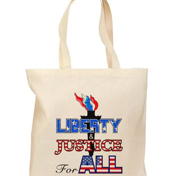 Liberty and Justice for All Grocery Tote Bag