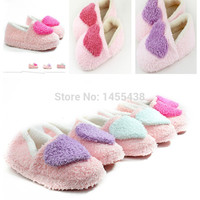 Fashion Soft Sole Woman Indoor Floor Slippers Shoes Antiskid Warm Winter Shoe Big love Hearts Bottom Plush Home Slippers P30011