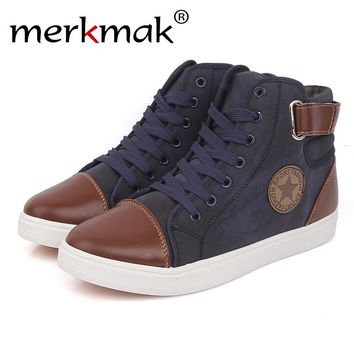 High Top Men Shoes British Style Ankle