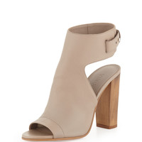 Addie Open-Toe Buckle-Back Sandal, Taupe - Vince