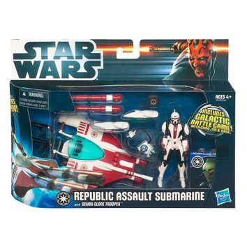 ONETOW STAR WARS Class 1 Fleet Vehicles - REPUBLIC SUB with SCUBA CLONE TROOPER