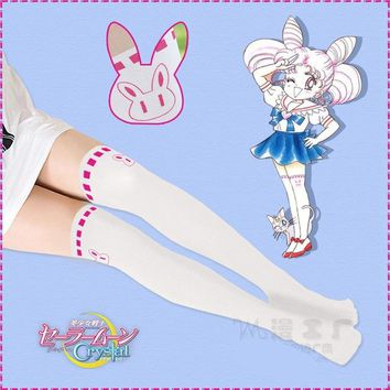 1pc Anime Sailor Moon Tights Chibi Usa Rabbit Pantyhose Small Lady Serenity