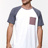 On The Byas Old Glory Longline Raglan T-Shirt - Mens Tee - White