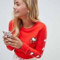 Converse X Hello Kitty Red Long Sleeve T-Shirt at asos.com