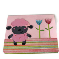 Lamb Easter Card Pink Easter Card