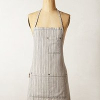 Agrarian Stripe Apron by Anthropologie Blue Motif One Size Aprons