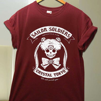 sailor moon skull for T Shirt unisex adult