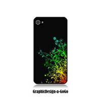 Iphone 4/4s case, Multi-Color Flower design, custom cell phone case