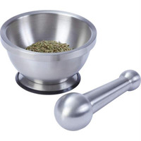 Maxam Stainless Steel Mortar And Pestle