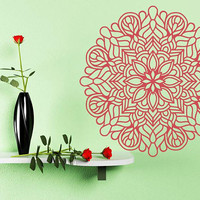 Yoga Mandala Flower Decal, Flower Decor, Room Entrance Decor, Yoga Flower Decor, Flower Sticker, Mandala Sticker, Mandala Decal, nm004