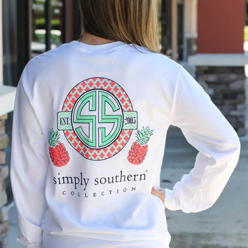 Simply Southern Long Sleeve - Pineapple