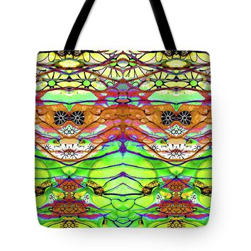 Wild Flowers Abstract Art - Sharon Cummings Tote Bag