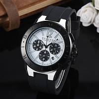 8DESS Bvlgari Woman Men Fashion Quartz Movement Wristwatch Watch