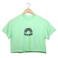 Eco Goth Mint Green Graphic Unisex Cropped Tee