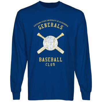 LSU Alexandria Generals Sport Club Long Sleeve T-Shirt - Royal Blue