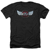 REO SPEEDWAGON/RENDERED LOGO-ADULT HEATHER-BLACK