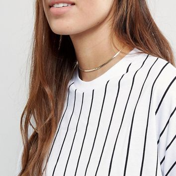 ASOS Fine Chain Choker Necklace at asos.com