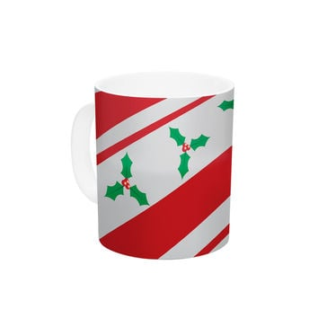 "KESS Original ""Holiday Holly"" Christmas Holiday Ceramic Coffee Mug"