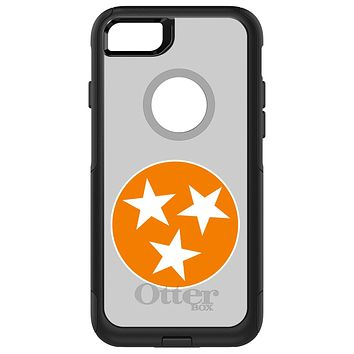 DistinctInk™ OtterBox Commuter Series Case for Apple iPhone or Samsung Galaxy - Grey Orange Tennessee Flag
