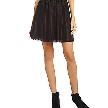 Gianni Bini Annabelle Layered Tulle Skirt - Black