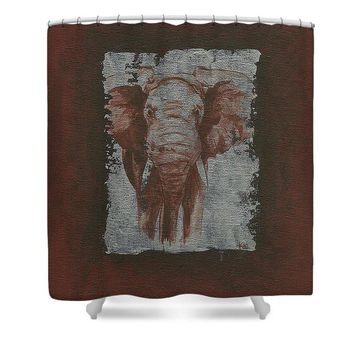 Elephant - Shower Curtain