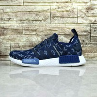 Best Online Louis Vuitton LV x Adidas NMD R1 Navy Blue Sport Running Shoes Classic Casual Shoes Sneakers