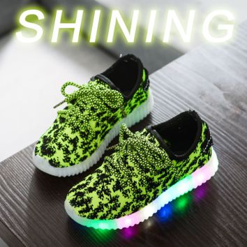 Kids Light Up Sports Outdoor Shoes