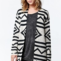 Roxy Karid Open Front Cardigan - Womens Sweater - Black/Ivory