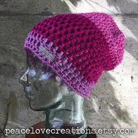 Crochet Slouchy Beanie~Ready to Ship~FREE SHIPPING