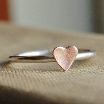 Sterling Silver Stacking Ring Rustic Romance by lovestrucksoul