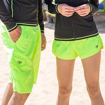 2018 Mens Shorts Surf Board Shorts Summer Sport Beach Homme Bermuda Short Pants Quick Dry Green Boardshorts Lovers Spouse Wear