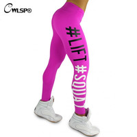 Skinny Legging Women Sportswear Lift Squat Print Fitness Pants Ph Up Hips Women's Leggins stretch QA1577
