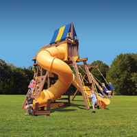 Superior Play Supreme Fort with Monkey Bars, Sky Loft and Tube Slide