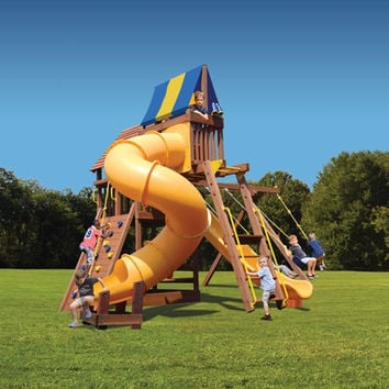 Playground One Supreme Fort with Monkey Bars, Sky Loft and Tube Slide