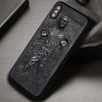 Carbonite Han Solo Star Wars - iPhone X 8+ 7 6s SE Cases & Covers #iPhoneX