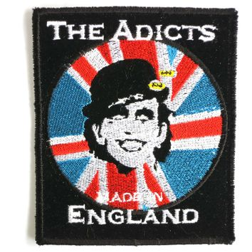 "THE ADICTS Made In England Sew On Embroidered Patch 3.1""/7.8cm"