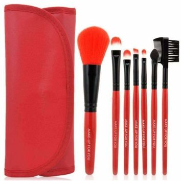 7pcs Soft Synthetic Makeup Brush With Pouch Bag