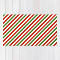 Festive Candy Stripes Rug by kasseggs