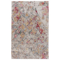 Contemporary Vintage Look Pattern Pink/Brown Polypropylene Area Rug ( 2x3)