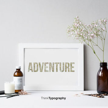 Adventure, map poster, travel poster, home decor, art print, minimal, minimalist, wall art, decor, home, office, simple, clean, tourist