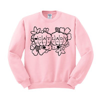Cat Lady Tattoo Crewneck Sweatshirt