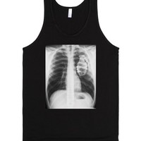 My Heart Is Ready To Explode-Unisex Black Tank
