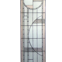15 Inch W X 54 Inch H Arc Deco Left Sided Stained Glass Window